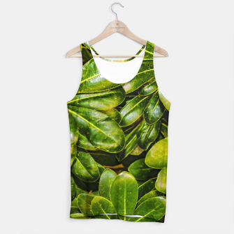 Thumbnail image of Top View Leaves Photo Tank Top, Live Heroes