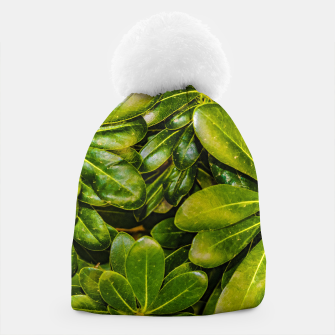 Thumbnail image of Top View Leaves Photo Beanie, Live Heroes