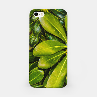 Thumbnail image of Top View Leaves Photo iPhone Case, Live Heroes