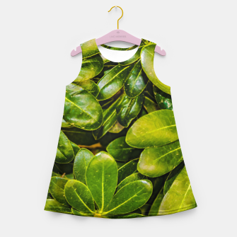 Thumbnail image of Top View Leaves Photo Girl's summer dress, Live Heroes