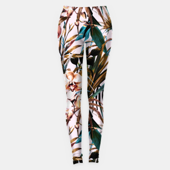 Thumbnail image of Pattern floral tropical 002 Leggings, Live Heroes