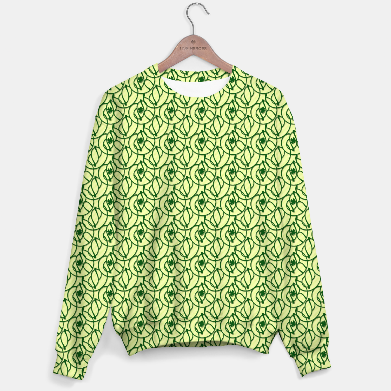 Image of St. Patrick's Day Clovers Cotton sweater - Live Heroes