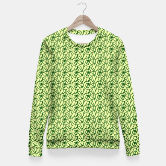 Thumbnail image of St. Patrick's Day Clovers Woman cotton sweater, Live Heroes