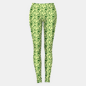 Thumbnail image of St. Patrick's Day Clovers Leggings, Live Heroes