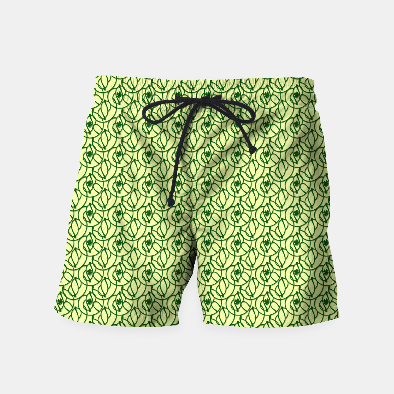 Image of St. Patrick's Day Clovers Swim Shorts - Live Heroes
