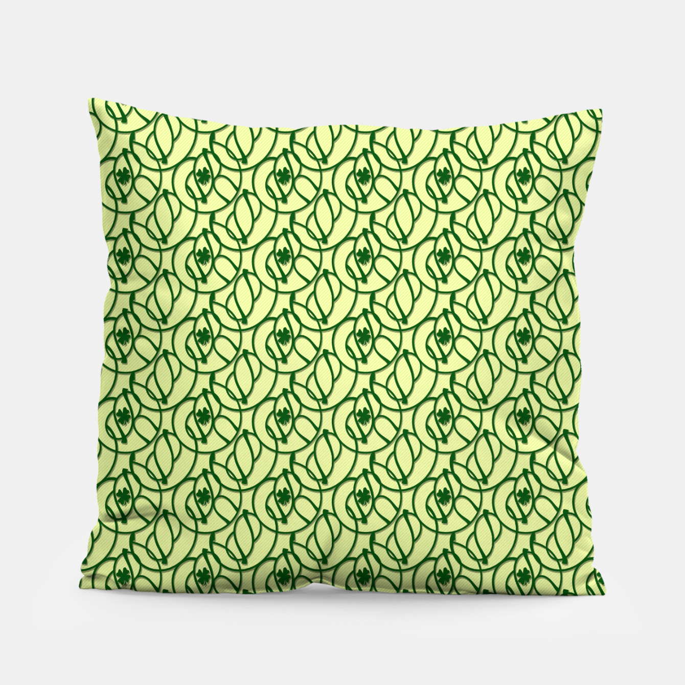 Image of St. Patrick's Day Clovers Pillow - Live Heroes
