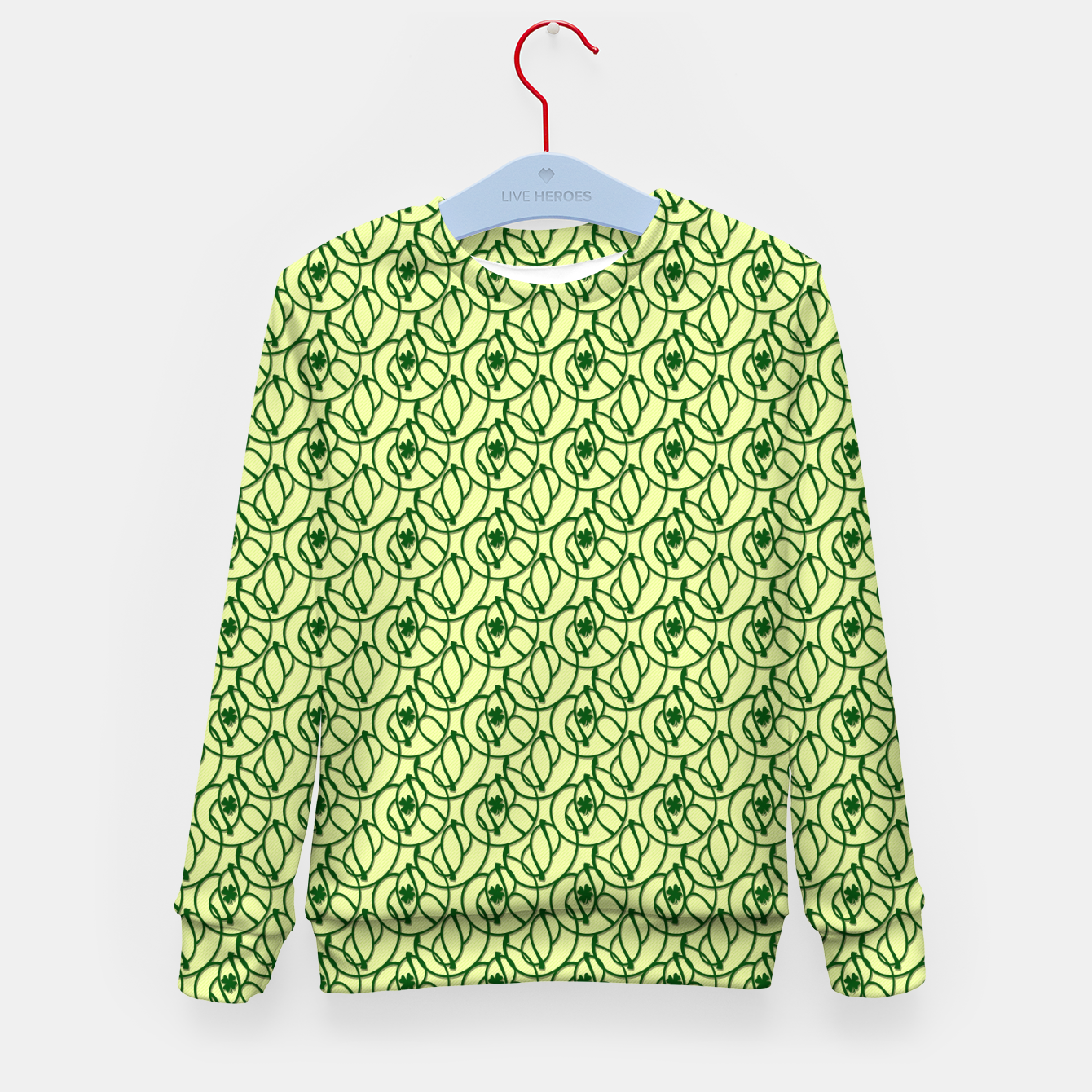 Image of St. Patrick's Day Clovers Kid's sweater - Live Heroes