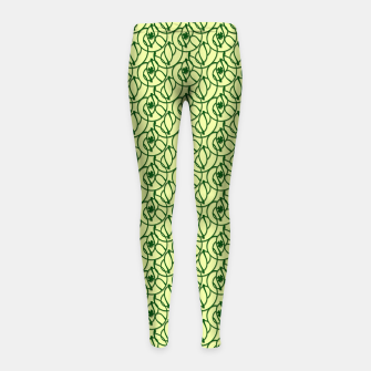 Thumbnail image of St. Patrick's Day Clovers Girl's leggings, Live Heroes
