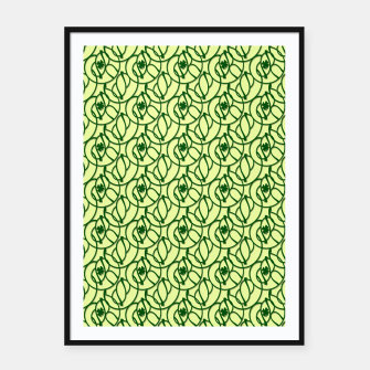 St. Patrick's Day Clovers Framed poster thumbnail image