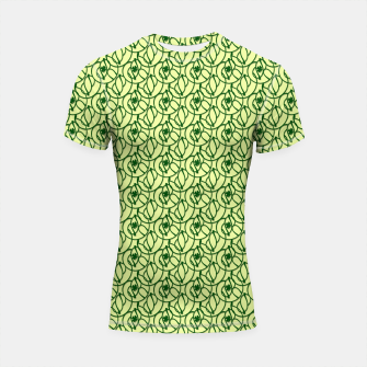 Thumbnail image of St. Patrick's Day Clovers Shortsleeve rashguard, Live Heroes