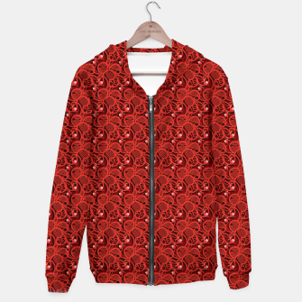 Cherry Tomato Red Hearts  Cotton zip up hoodie thumbnail image