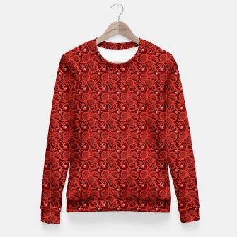 Cherry Tomato Red Hearts  Woman cotton sweater thumbnail image