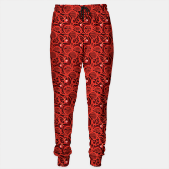 Cherry Tomato Red Hearts  Cotton sweatpants thumbnail image