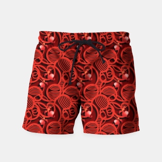Cherry Tomato Red Hearts  Swim Shorts thumbnail image