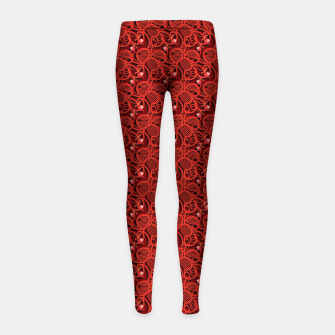 Cherry Tomato Red Hearts  Girl's leggings thumbnail image