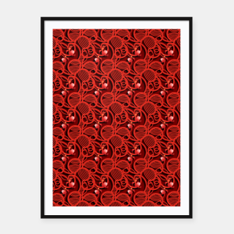 Thumbnail image of Cherry Tomato Red Hearts  Framed poster, Live Heroes