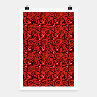 Thumbnail image of Cherry Tomato Red Hearts  Poster, Live Heroes