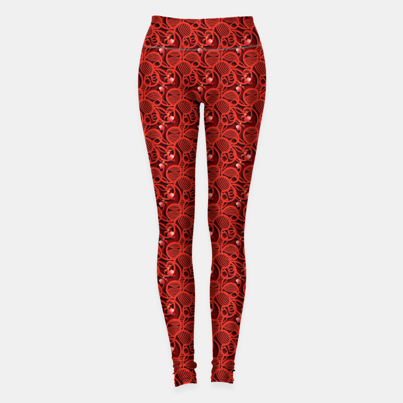 Image of Cherry Tomato Red Hearts  Leggings - Live Heroes