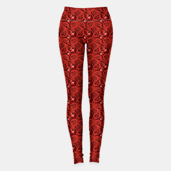 Cherry Tomato Red Hearts  Leggings thumbnail image