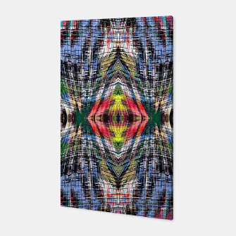 geometric symmetry pattern abstract background in blue yellow green red Canvas obraz miniatury