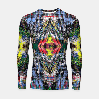 geometric symmetry pattern abstract background in blue yellow green red Longsleeve rashguard  obraz miniatury