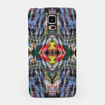geometric symmetry pattern abstract background in blue yellow green red Samsung Case obraz miniatury