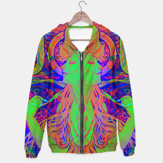 Thumbnail image of Alphonse Mucha Remixed 02 Cotton zip up hoodie, Live Heroes