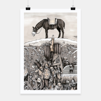 Miniature de image de World War 1 soldiers in a battlefield trench Plakat, Live Heroes