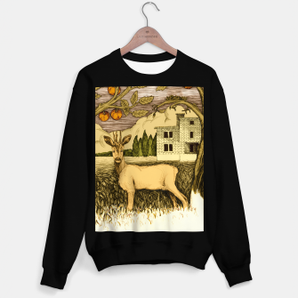 Miniature de image de Deer   on the background of trees and house Bluza standard, Live Heroes