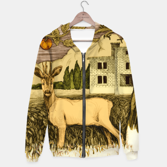 Miniature de image de Deer   on the background of trees and house Bawełniana bluza z zamkiem, Live Heroes