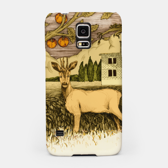 Miniature de image de Deer   on the background of trees and house Obudowa na Samsunga, Live Heroes