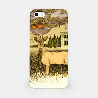 Miniature de image de Deer   on the background of trees and house Obudowa iPhone, Live Heroes
