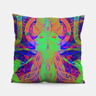 Thumbnail image of Alphonse Mucha Remixed 02 Pillow, Live Heroes