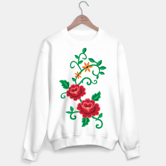 Miniature de image de Folk embroidery with flowers - traditional pattern  Bluza standard, Live Heroes