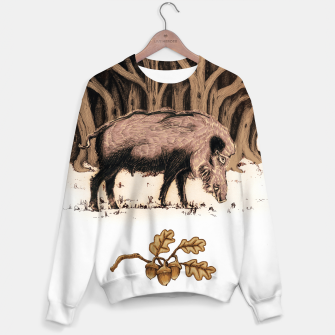 Miniature de image de Wild boar, wild boar on the grass, illustration Bluza bawełniana, Live Heroes