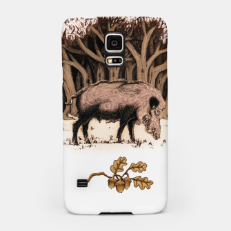 Miniature de image de Wild boar, wild boar on the grass, illustration Obudowa na Samsunga, Live Heroes