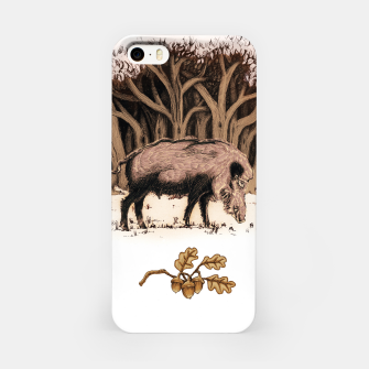Miniature de image de Wild boar, wild boar on the grass, illustration Obudowa iPhone, Live Heroes