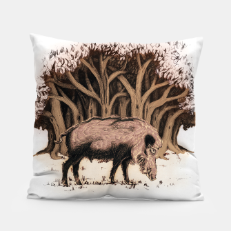 Miniature de image de Wild boar, wild boar on the grass, illustration Poduszka, Live Heroes