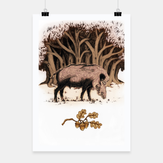 Miniature de image de Wild boar, wild boar on the grass, illustration Plakat, Live Heroes