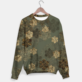 Thumbnail image of Japanese emblem art vintage green gold Cotton sweater, Live Heroes