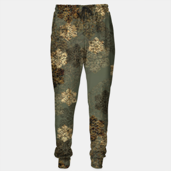 Thumbnail image of Japanese emblem art vintage green gold Cotton sweatpants, Live Heroes