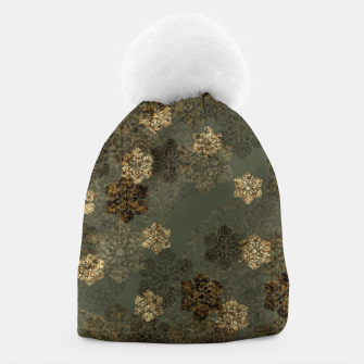 Thumbnail image of Japanese emblem art vintage green gold Beanie, Live Heroes