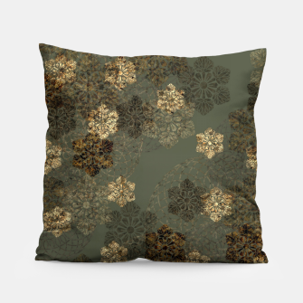 Thumbnail image of Japanese emblem art vintage green gold Pillow, Live Heroes