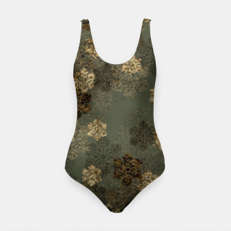 Thumbnail image of Japanese emblem art vintage green gold Swimsuit, Live Heroes