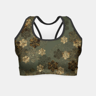 Thumbnail image of Japanese emblem art vintage green gold Crop Top, Live Heroes