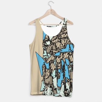 Thumbnail image of drawing and sketching abstract in blue with brown background Tank Top, Live Heroes