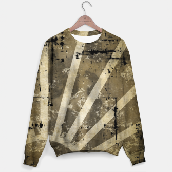 Thumbnail image of grungy sunrise Cotton sweater, Live Heroes
