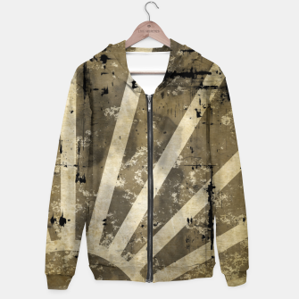 Thumbnail image of grungy sunrise Cotton zip up hoodie, Live Heroes