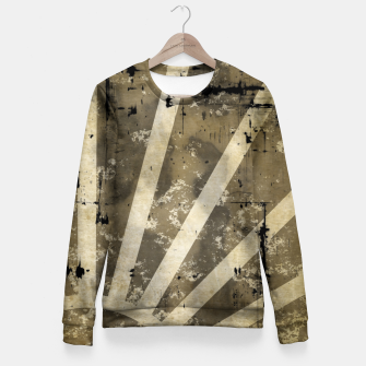 Thumbnail image of grungy sunrise Woman cotton sweater, Live Heroes