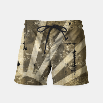 Thumbnail image of grungy sunrise Swim Shorts, Live Heroes
